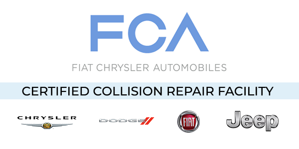 FCA certified collision repair facility logo