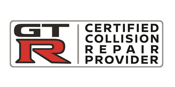 GT-R certified collision repair provider logo
