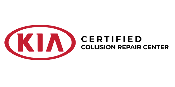 KIA certified collision repair center logo