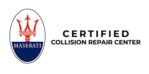 maserati certified collision repair center logo