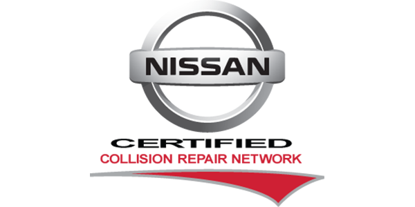 Nissan certified collision repair network logo